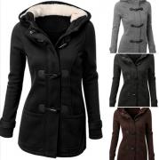 Zvětšit fotografii - Dámský kabát s kapucí