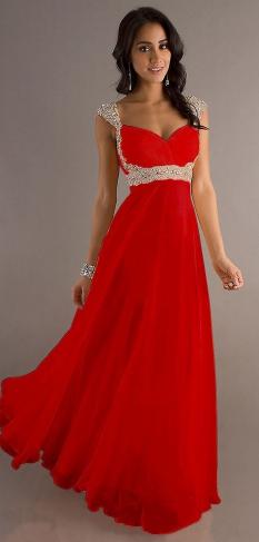 Plesové a společenské šaty Červené