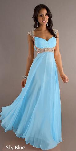 Plesové a společenské šaty Světle modré