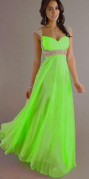 Plesové a společenské šaty Zelené