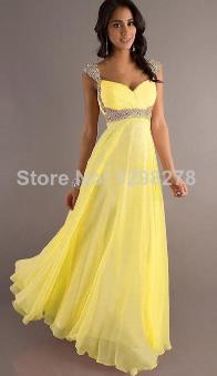 Plesové a společenské šaty Žluté
