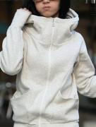 Mikina s vysokým límcem a kapucí šedá