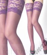 Barevné podvazky fialové