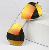 Dámské zlaté sluneční brýle se stříbrnou obroučkou