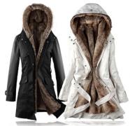 Dlouhý kabát s kožíškem