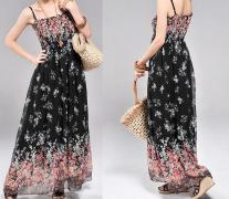 Letní MAXI šaty volné černé SKLADEM