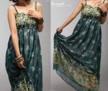 Letní MAXI šaty volné zelené SKLADEM