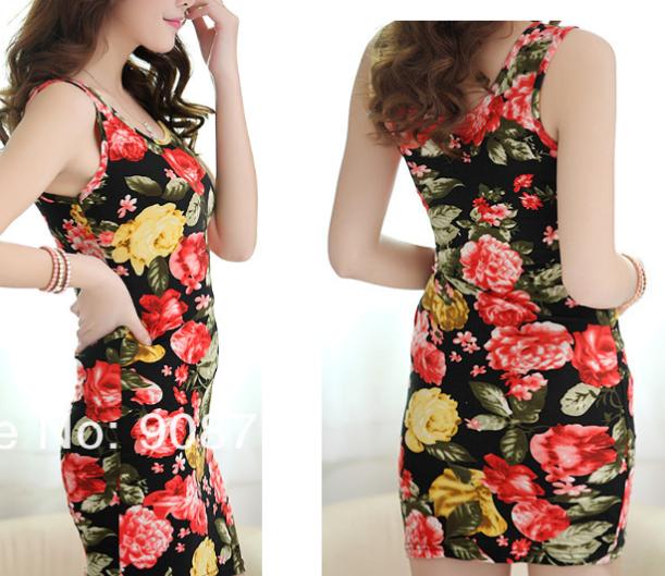 Květované šaty letní