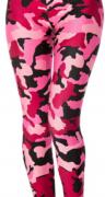 Legíny ARMY, UNI velikost, růžový maskáč