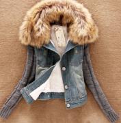 Jesnová bunda s kožíškem