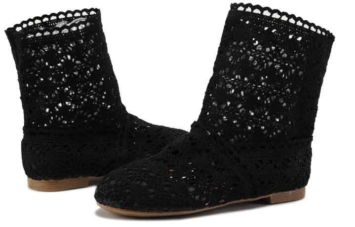 Pletené boty černé