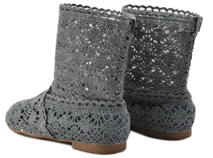 Pletené boty šedé