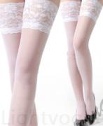 Barevné podvazky bílé SKLADEM