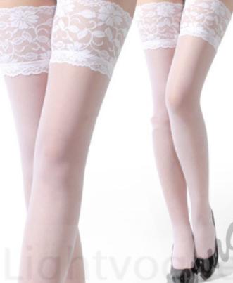 Barevné podvazky bílé