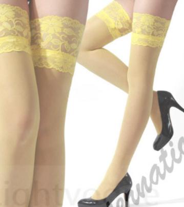 Barevné podvazky žluté