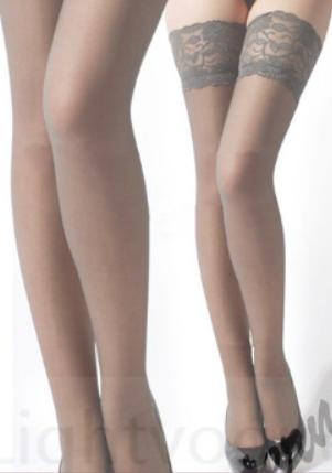 Barevné podvazky šedé