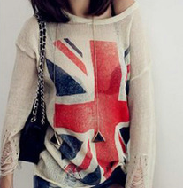 Tričko s vlajkou béžové