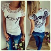 Tričko ANGEL bílé