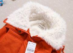 Dámská zimní prošívaná modrá bunda s kožíškem