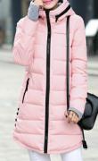 Dámská dlouhá bunda světle růžová
