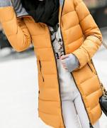 Dámská dlouhá bunda oranžová