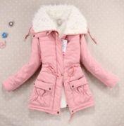 Zimní bunda s kožešinou růžová