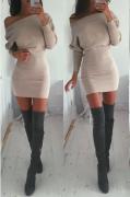 Dámské sexy šaty holé rameno