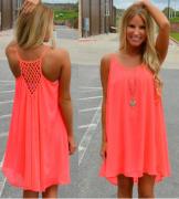 Dámské krátké letní šaty v neonových barvách fc636a891c