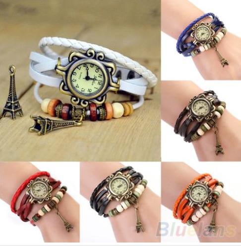 Vintage hodinky s korálky