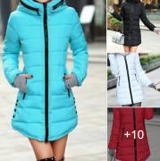 dámská dlouhá zimní bunda