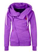 Dámská mikina se zipem fialová