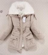 Béžová bunda s kožíškem