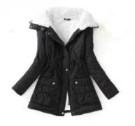 Černá bunda s kožíškem