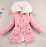 Růžová bunda s kožešinou