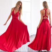 Dámské dlouhé MAXI šaty multifunkční zavazování