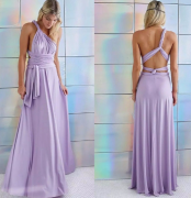 letní maxi šaty fialové