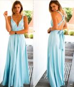 letní maxi šaty modré