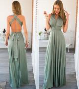 letní maxi šaty zelené