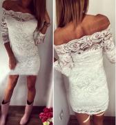 krajkové šaty krátké bílé
