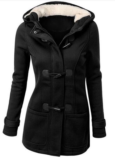 Dámský kabát s kapucí