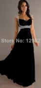 černé plesové šaty dlouhé