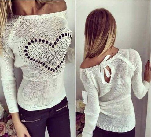 dámský bílý svetr