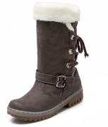 Tmavě hnědé zimní boty