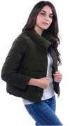 Dámská bunda bez kapuce, krátká - Černá