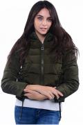 Dámská bunda s kapucí, krátká
