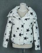 Dámská zimní bunda s motivem hvězdy - Černá