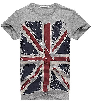 Pánské tričko vlajka - Šedé