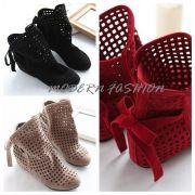 Kotníkové boty s mašlí