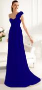 Plesové šaty s ozdobou na jedno rameno