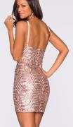 Šaty s flitrovým motivem 2 BARVY